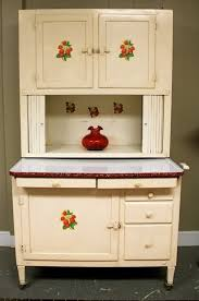 Vintage Hoosier Cabinet For Sale Adorable Antique Hoosier Cabinet With Strawberry Stencils Sold