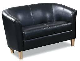 Tub Sofa Leather Faux Leather 2 Seater Sofa High Quality Black Faux Leather Two