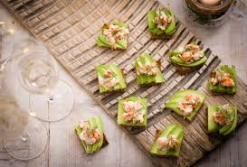 food canapes avocado and prawn cocktail toasts recipe olive magazine