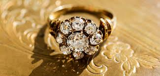 old mine cut diamond engagement ring collection