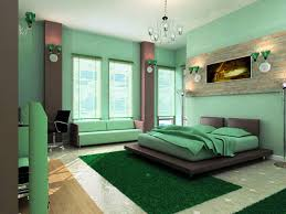 grey bedroom wall themes with brown curtains combined by green