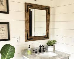 Wall Mirror Bathroom Rustic Mirror Etsy