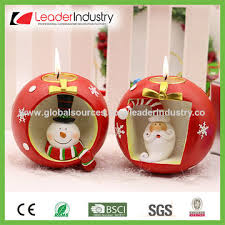 china wholesale new christmas decor santa u0026deer candle holder made