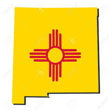 Map Of New Mexico by Map And Flag Of The State Of New Mexico Stock Photo Picture And