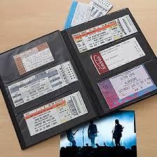 ticket stub album concert times personalized ticket album ticket stubs concert
