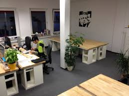 ikea hackers workspace put in dual office workroom with