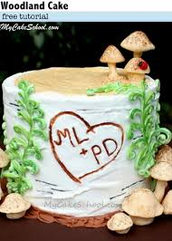 woodland cake in buttercream free tutorial my cake