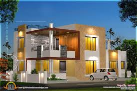 floor plan elevation modern house indian plans architecture