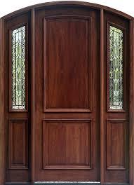 glass panels for front doors arched doors exterior arched top doors mahogany door