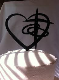 christian wedding cake toppers cross heart rings contemporarty wedding by countryroadspecialty