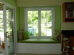 home interior window design refreshing green nuance contemporary sitting space decorated with