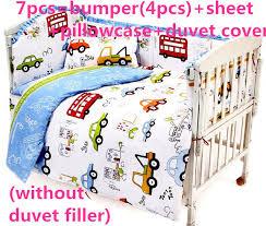 Duvet Cover For Baby Promotion 6 7pcs Baby Bedding Set Curtain Duvet Cover Crib