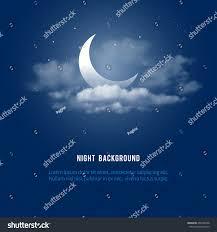 halloween clouds transparent background mystical night sky background half moon stock vector 408109498