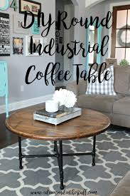 diy round farmhouse table diy round industrial coffee table a in the stuff
