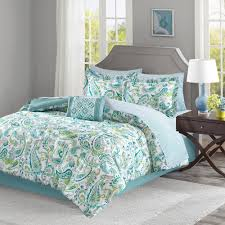 California King Duvet Cover Lila Aqua Cal King Complete Bed And Sheet Set