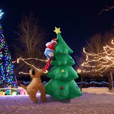 Buy Christmas Outdoor Decorations by Aliexpress Com Buy 1 8m Tall Inflatable Christmas Tree Santa