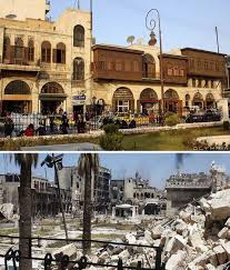 syria before and after 28 before and after photos that show how war devastated the largest