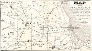 Illinois Map With Counties by Dekalb Chronicle 1892
