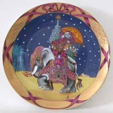 1996 and grondahl plate santa claus