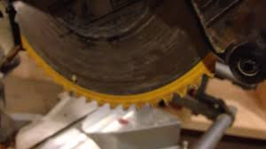 change a dewalt dws780 miter saw blade youtube