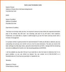termination lease letter early lease termination letterearly