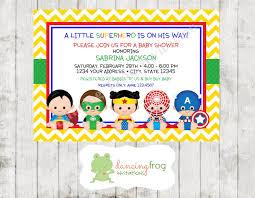 smurfs baby shower invitations superhero baby shower invitation il fullxfull 645147808 5t3n