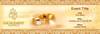 hindu engagement invitations free engagement invitation with india s 1 online tool
