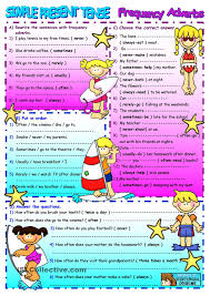 present simple 2 page practice with 9 exrcises esl worksheets of