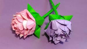 origami rose modular easy paper rose ideas for christmas