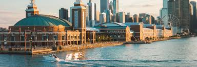 navy pier map directions parking information dock location mystic blue cruises
