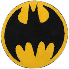 Round Bathroom Rugs Batman Logo Tufted Bath Rug Walmart Com