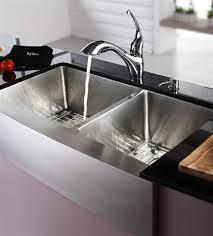 stainless steel kitchen sink kraus 36 inch farmhouse apron 60 40