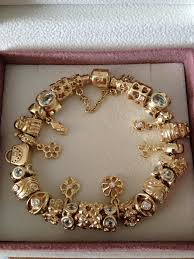 white gold bracelet with charms images Pandora bracelet 14k white gold jpg