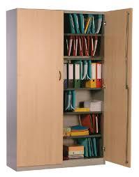 armoir bureau armoire haute a portes battantes 4 tablettes