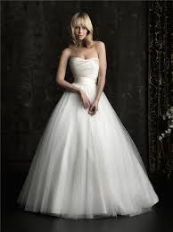 plain wedding dresses gown princess strapless plain satin tulle wedding dress with belt