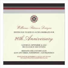 8 business anniversary invitations designs templates free
