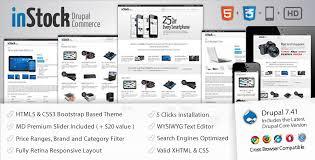 drupal themes latest instock responsive drupal 7 commerce theme themesnap com