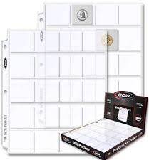 400 pocket photo album 400 bcw pro 20 pocket coin album pages clear binder sheets for 2 x