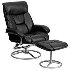 Black Leather Recliner Flash Furniture Contemporary Black Leather Recliner