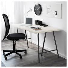 Trestle Computer Desk Linnmon Table Top White Ikea