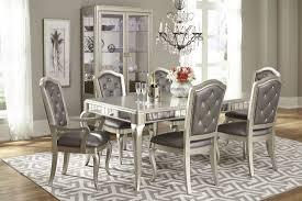 diva metallic rectangular extendable leg dining table from samuel