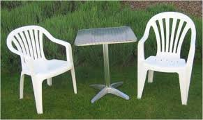 White Resin Patio Tables White Plastic Patio Table In Home Designs