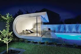 Best Small Modern Classic House by Outdoors Backyard Decor With Small Modern Pool House And Unique