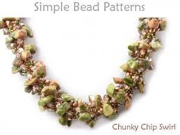 bracelet beads pattern images Chip spiral stitch beaded necklace bracelet beading pattern jpg