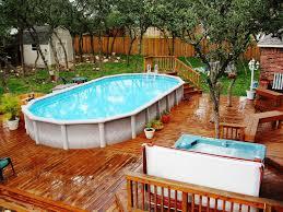 garden ideas above ground pool decks pool deck ideas to extend