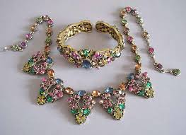 color rhinestone necklace images Morning glory antiques jewelry jpg