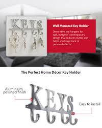 Decorative Key Racks For The Home Amazon Com Key Holder U201ckeys U201d U2013 Wall Mounted Key Holder 4 Key