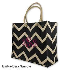 monogrammable items black chevron city juco bag free personalization monogram