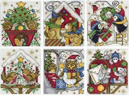 design works home for christmas ornaments cross stitch kit 1697