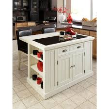 granite top kitchen island table home styles nantucket white kitchen island with granite top 5022